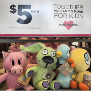 Plush animals from Kohl's cares