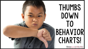 Thumbs down to behavior charts with image